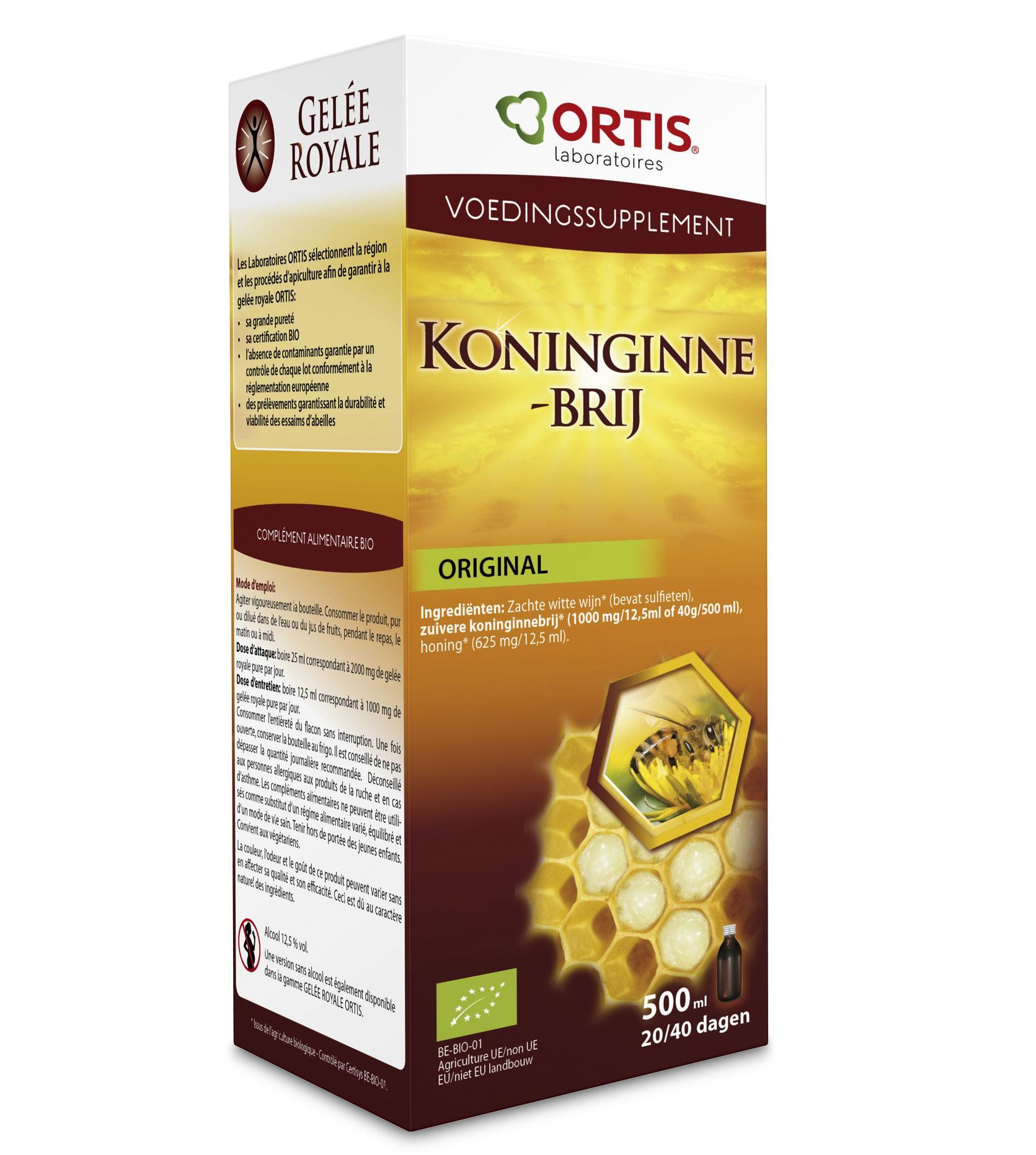 Ortis Koninginnebrij Bio met Alcohol Fles 500 ml