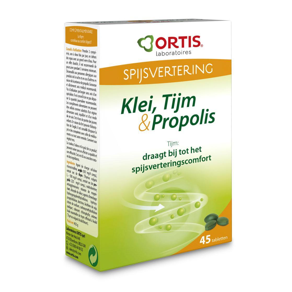 Ortis Klei Tijm Propolis Tabletten