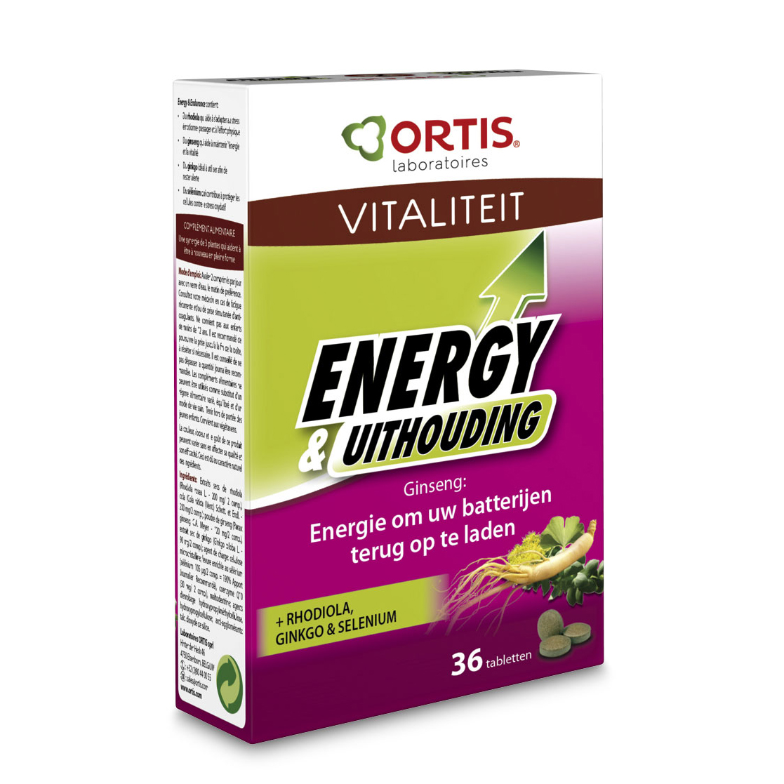 Ortis Energy en uithouding Tabletten